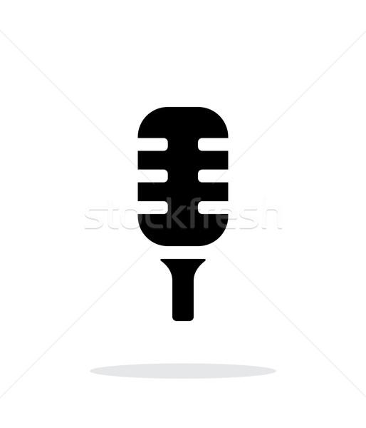 Studio microphone icon on white background. Stock photo © tkacchuk