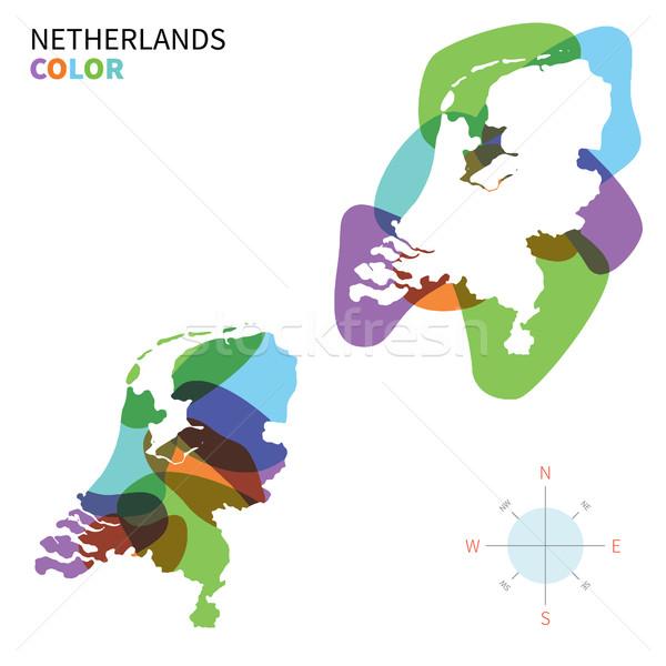 Сток-фото: аннотация · вектора · цвета · карта · Нидерланды · прозрачный