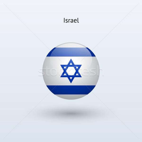 Israel round flag. Vector illustration. Stock photo © tkacchuk