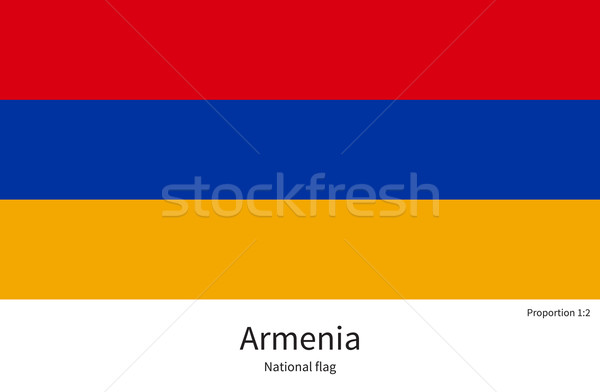 National flag of Armenia with correct proportions, element, colors Stock photo © tkacchuk