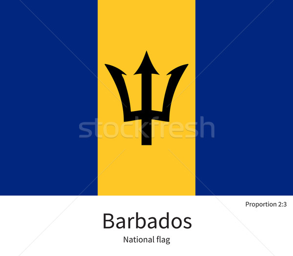 National flag of Barbados with correct proportions, element, colors Stock photo © tkacchuk