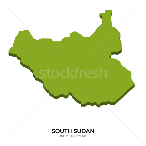 Isometric map of South Sudan detailed vector illustration Stock photo © tkacchuk
