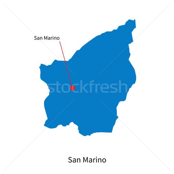 Foto stock: Detalhado · vetor · mapa · San · Marino · cidade · educação
