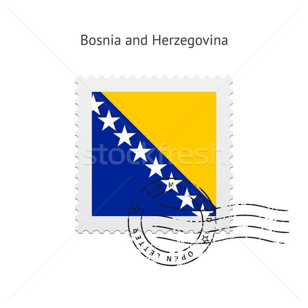 Bosnia and Herzegovina Flag Postage Stamp. Stock photo © tkacchuk
