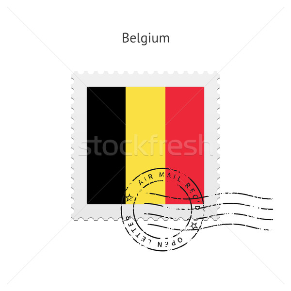 Belgium Flag Postage Stamp. Stock photo © tkacchuk