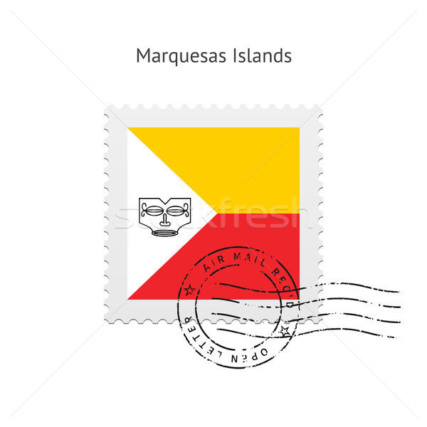 Marquesas Islands Flag Postage Stamp. Stock photo © tkacchuk