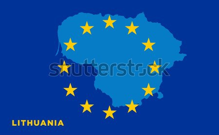 EU flag with Austria country. European Union membership Austria Stock photo © tkacchuk