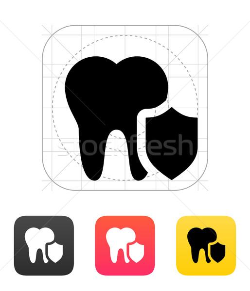 защищенный зубов икона белый здоровья медицина Сток-фото © tkacchuk