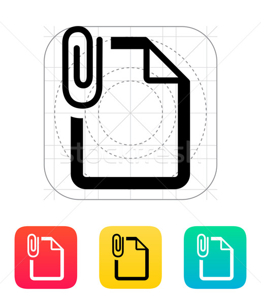 Attached file icon. Stock photo © tkacchuk
