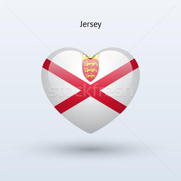 Love Jersey symbol. Heart flag icon. Stock photo © tkacchuk