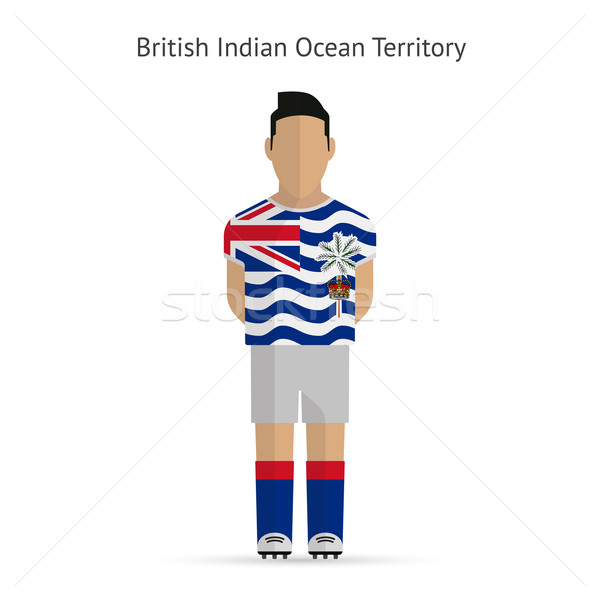 British Indian Ocean Territory football player. Soccer uniform. Stock photo © tkacchuk
