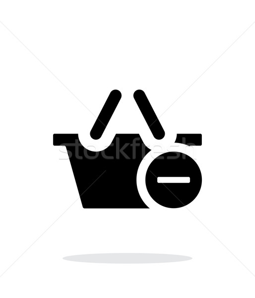 Shopping basket with minus simple icon on white background. Stock photo © tkacchuk