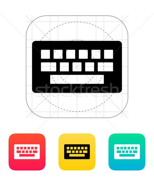 икона белый ноутбука знак промышленности Сток-фото © tkacchuk