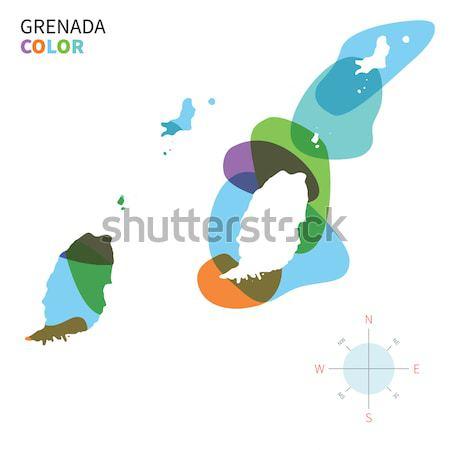 Absztrakt vektor szín térkép Fidzsi-szigetek átlátszó Stock fotó © tkacchuk