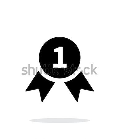 Adjudicación medalla simple icono blanco deporte Foto stock © tkacchuk