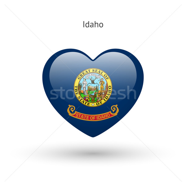 Liefde Idaho symbool hart vlag icon Stockfoto © tkacchuk