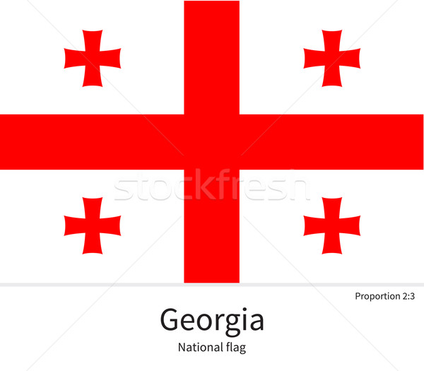 National flag of Georgia with correct proportions, element, colors Stock photo © tkacchuk