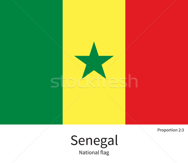 National flag of Senegal with correct proportions, element, colors Stock photo © tkacchuk