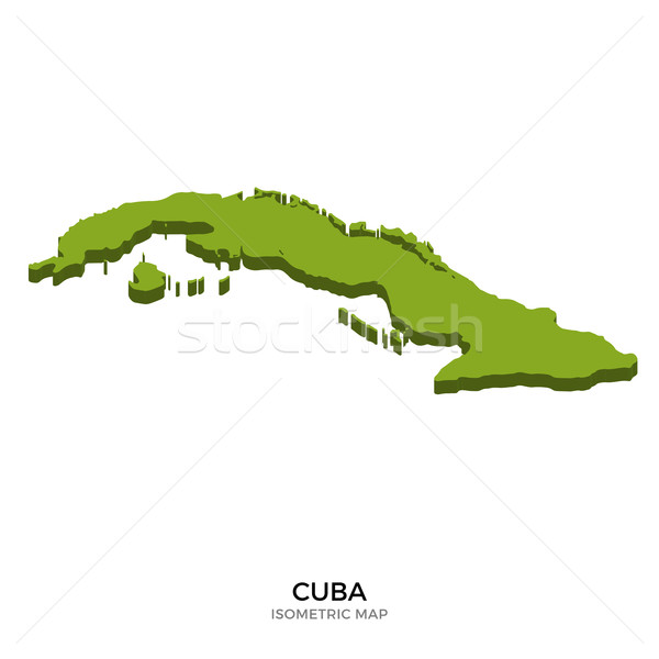 Isometric map of Cuba detailed vector illustration Stock photo © tkacchuk