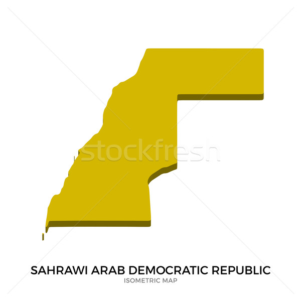 Isometric map of Sahrawi Arab Democratic Republic detailed vector illustration Stock photo © tkacchuk