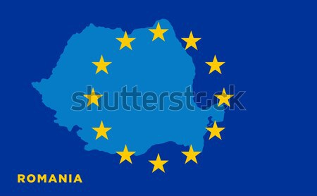 EU flag with Sweden country. European Union membership Sweden Stock photo © tkacchuk