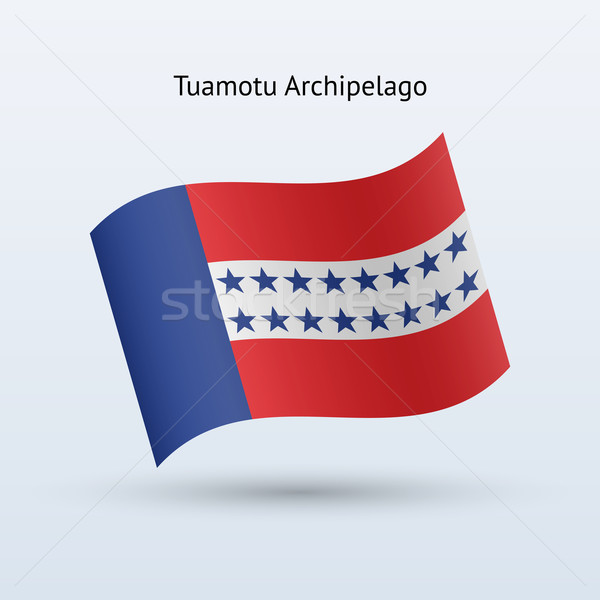 Tuamotu Archipelago flag waving form. Stock photo © tkacchuk