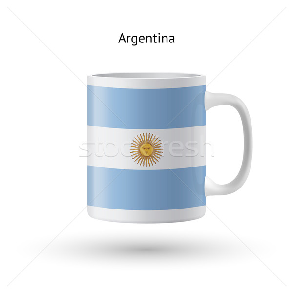 Argentina bandiera souvenir mug bianco isolato Foto d'archivio © tkacchuk