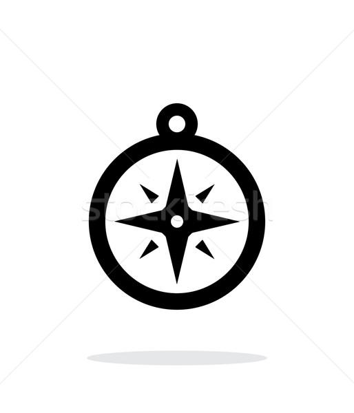 Compass icon. Navigation icon on white background. Stock photo © tkacchuk