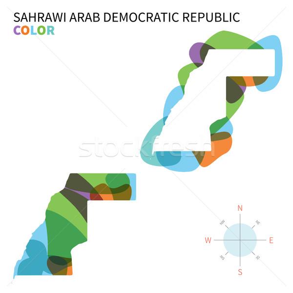 Abstrakten Vektor Farbe Karte arab demokratischen Stock foto © tkacchuk