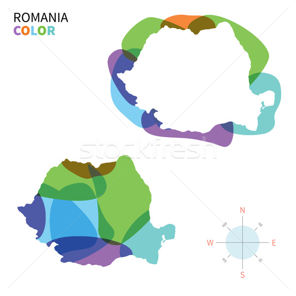 Resumen vector color mapa Rumania transparente Foto stock © tkacchuk