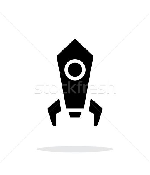 Stok fotoğraf: Roket · basit · ikon · beyaz · dizayn · imzalamak