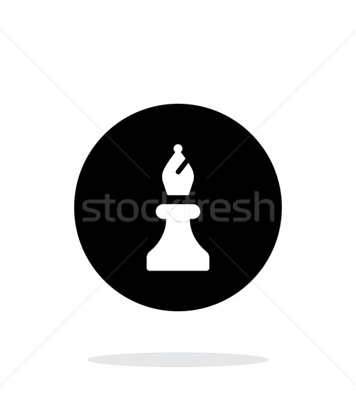 Chess Bishop simple icon on white background. Stock photo © tkacchuk