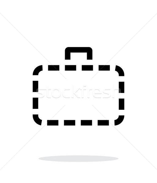 Geval eenvoudige icon witte business metaal Stockfoto © tkacchuk