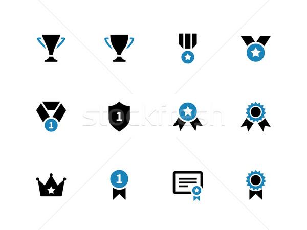 Trophy duotone icons on white background. Stock photo © tkacchuk