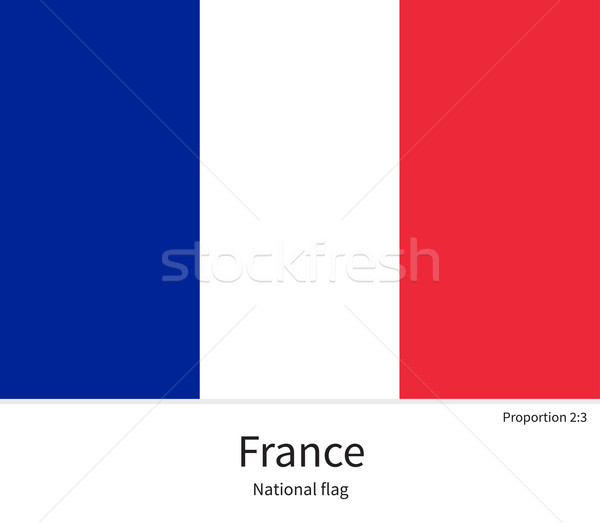 National flag of France with correct proportions, element, colors Stock photo © tkacchuk