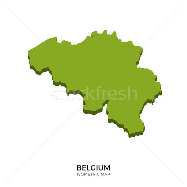 изометрический карта Бельгия подробный изолированный 3D Сток-фото © tkacchuk