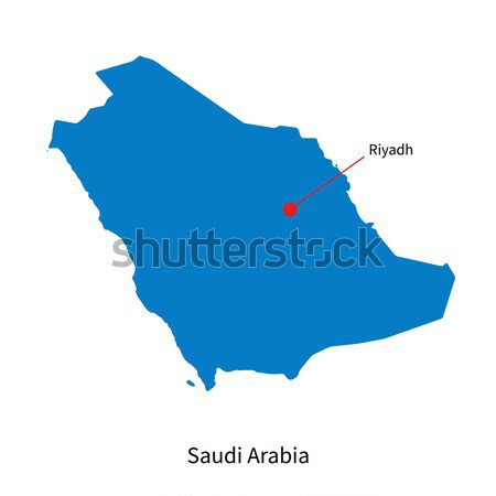 Detailed vector map of Saudi Arabia and capital city Riyadh Stock photo © tkacchuk