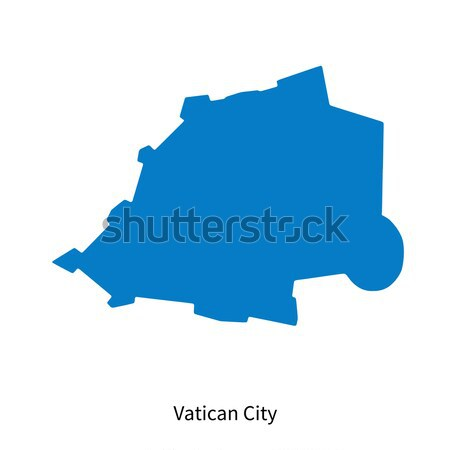 Detailed vector map of Vatican City Stock photo © tkacchuk