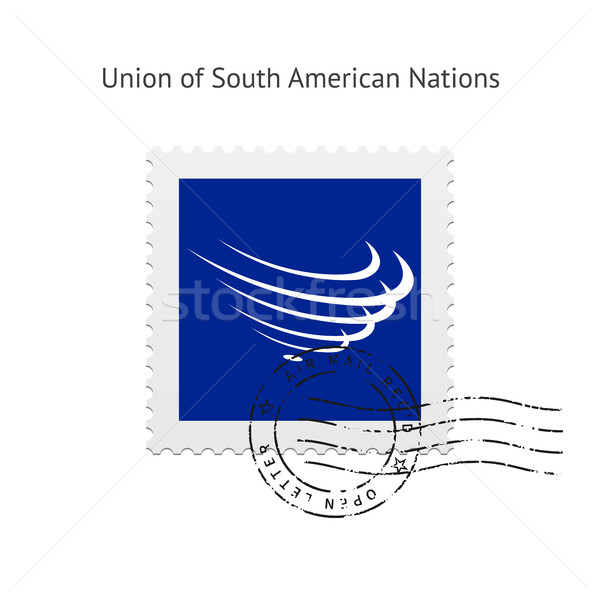 Union of South American Nations Flag Postage Stamp. Stock photo © tkacchuk