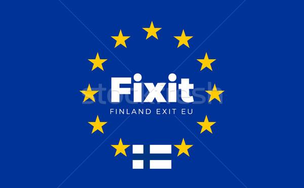 Bandera europeo Unión salida ue título Foto stock © tkacchuk