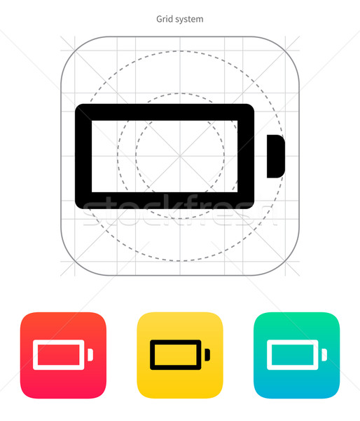 Empty charge battery icon. Vector illustration. Stock photo © tkacchuk