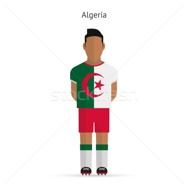 Алжир футболист Футбол равномерный аннотация фитнес Сток-фото © tkacchuk