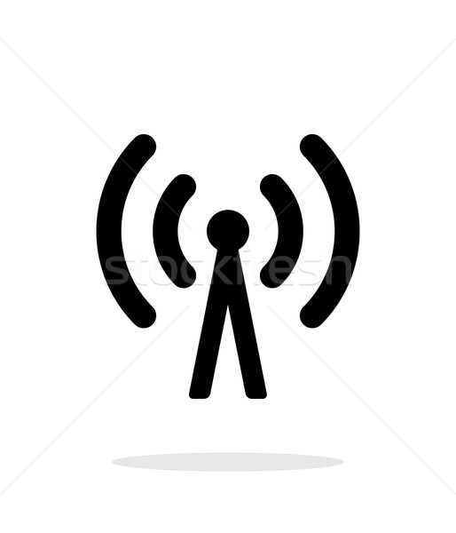 Cell phone tower icon on white background. Stock photo © tkacchuk