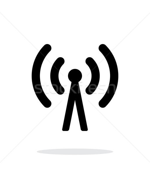 Téléphone portable tour icône blanche technologie sans fil ordinateur Photo stock © tkacchuk