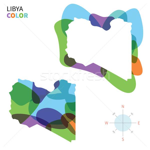 Streszczenie wektora kolor Pokaż Libia przezroczysty Zdjęcia stock © tkacchuk