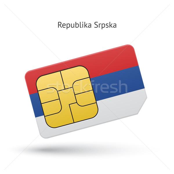 Cep telefonu kart bayrak iş dizayn teknoloji Stok fotoğraf © tkacchuk