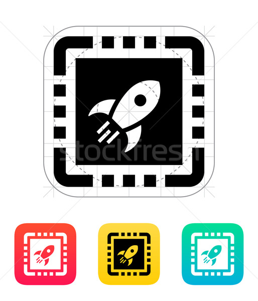 Macht cpu icon vector illustratie gegevens Stockfoto © tkacchuk