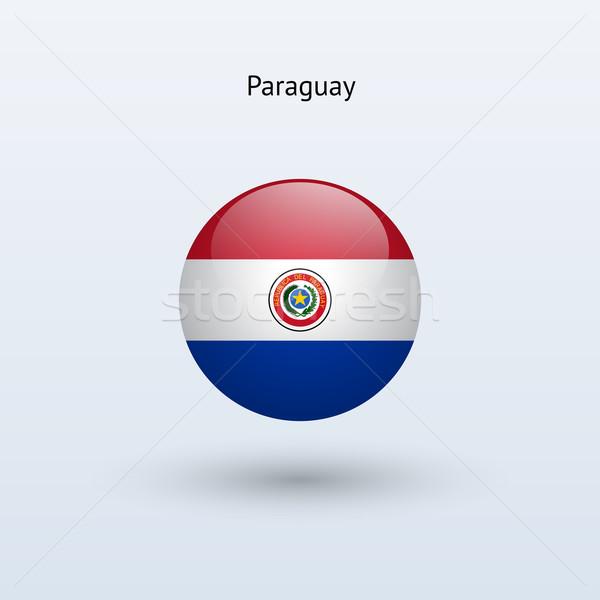 Paraguay bandiera grigio segno web viaggio Foto d'archivio © tkacchuk