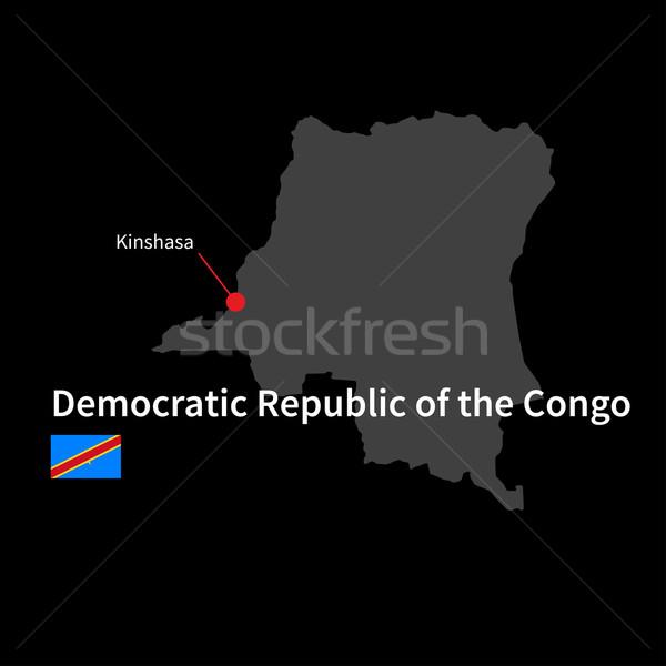 Detaillierte Karte demokratischen Republik Kongo Stadt Stock foto © tkacchuk