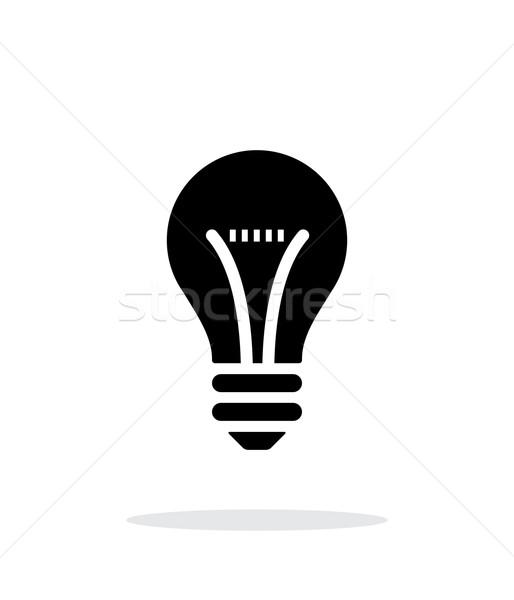 Bulb icon on white background. Stock photo © tkacchuk